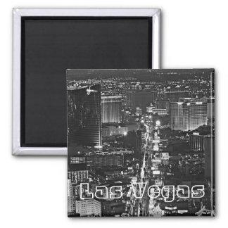 Black White Las Vegas Magnet