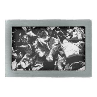 Black & White Leaves Belt Buckles