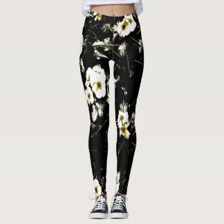 black white leggings