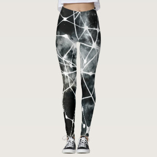 Black white leggings