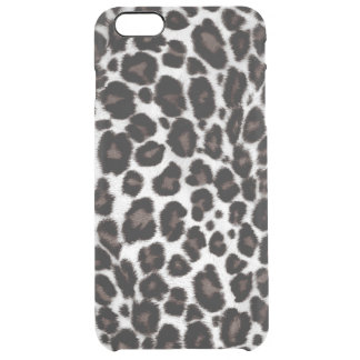 Black White Leopard Print Pattern Classic Stylish Clear iPhone 6 Plus Case