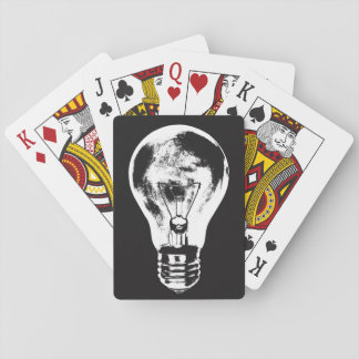 Black & White Light Bulb - Playing Cards