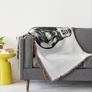 Black & White Light Bulb - Throw Blanket