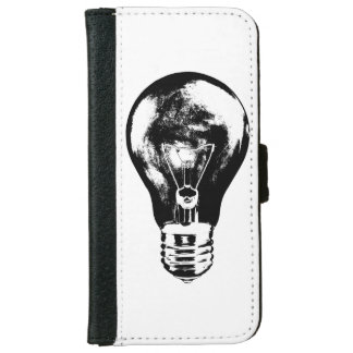 Black & White Light Bulb - Wallet Case