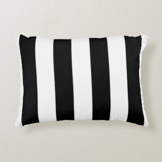 Black & White Lined Accent Pillow