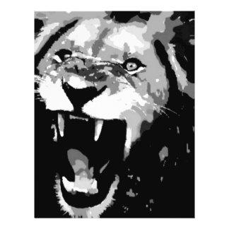 Black & White Lion 21.5 Cm X 28 Cm Flyer