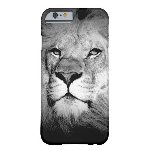 Black & White Lion iPhone 6 Case