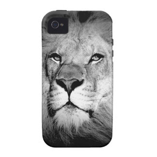 Black White Lion iPhone 4/4S Cases