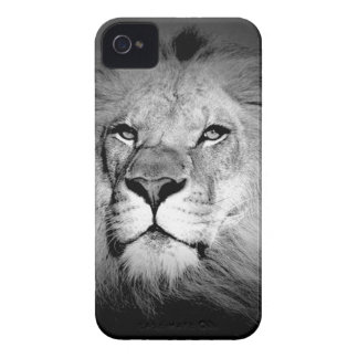 Black & White Lion iPhone 4 Case-Mate Cases