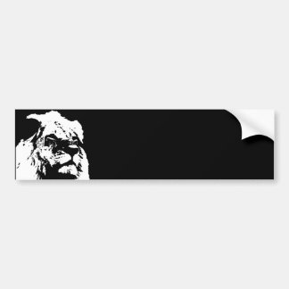 Black & white lion pop art bumper sticker