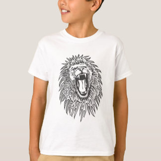 black-white-lion-vector T-Shirt