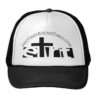 Black White Logo Address Trucker Hat