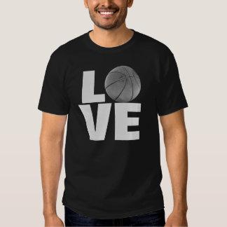 Black White Love Basketball T-Shirt