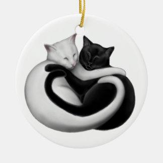 Black & White Love Cats Ornament