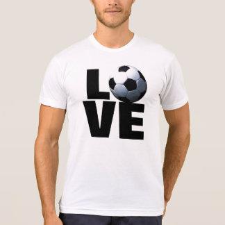 Black & White Love Soccer T-Shirt