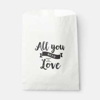 Black & White Love Wedding, Bridal Shower, Party Favour Bags