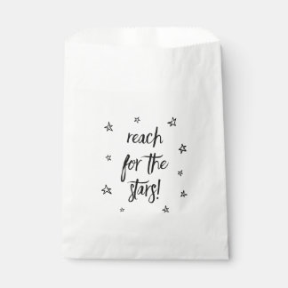 Black & White Love Wedding Party Stars Favour Bags