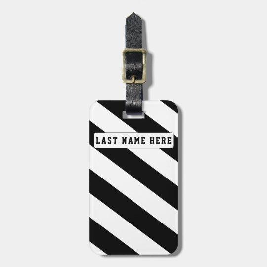 Black & White Luggage Tag