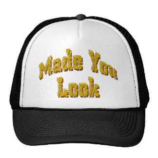 BLack & White Made You Look logo cap