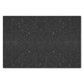 Black & White Majestic Starry Nebula Night Tissue Paper