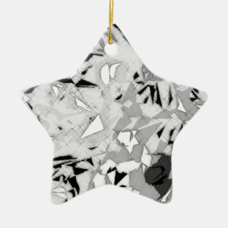 Black White Marble Abstract Christmas Ornament