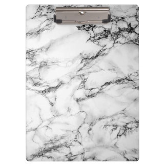 Black & White Marble Clipboard