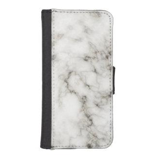 black white marble Ebony Ivory stone finish iPhone SE/5/5s Wallet Case