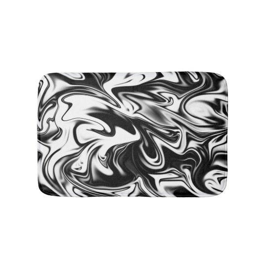 Black White Marble, Small Memory Foam Bath Mat
