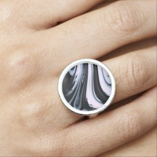 Black & White Marble Swirl Design