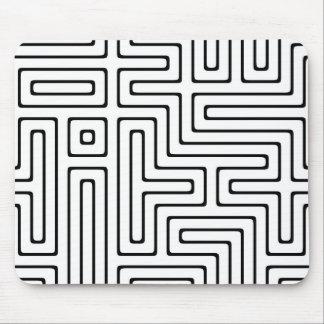 black white maze mousepads