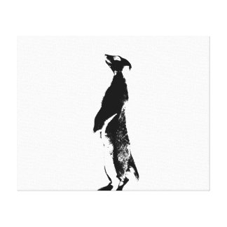 Black & White Meerkat - right - Canvas