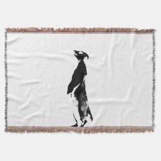 Black & White Meerkat - right - Throw blanket