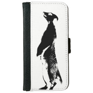 Black & White Meerkat - right - Wallet case