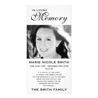 Black & White Memorial Family Acknowledgement Card