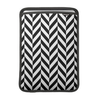 Black & White Modern Chevron MacBook Air Sleeve