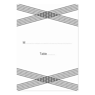 Black White Modern Deco Wedding Place Cards Large Business Cards (Pack Of 100)