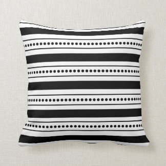 Black & White Modern Graphic Striped Throw Pillow