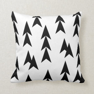 Black & White Modern Graphic Triangle Throw Pillow
