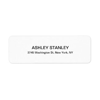 Black & White Modern Look Professional Legible Return Address Label