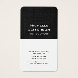 Black & White Modern Stylish Trendy Professional Business Card