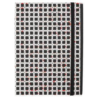 "Black White Modern Trendy Pattern iPad Pro 12.9"" Case"