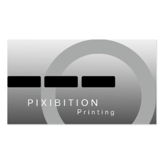 Black White Monochrome Business Card BW 5 Printing