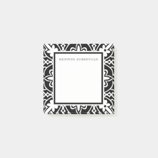 Black & White Moroccan Border | Personalized Post-it Notes
