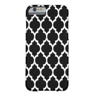 Black White Moroccan Quatrefoil Pattern #4 Barely There iPhone 6 Case