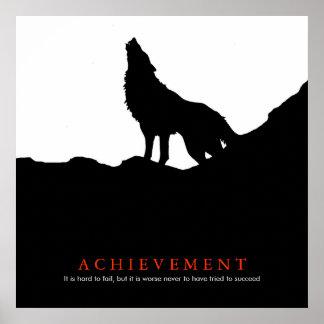 Black & White Motivational Achievement Poster