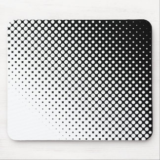 Black White Mouse Mat
