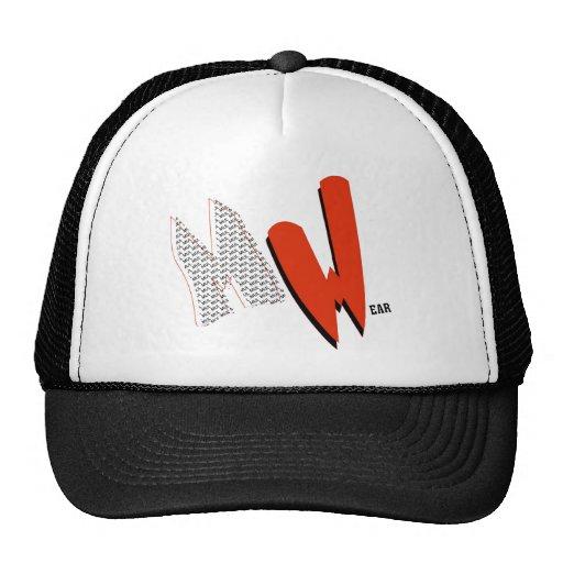 Black & White MulWear MW logo Cap Trucker Hats