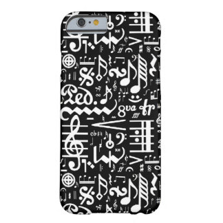 Black White Musical Symbols iPhone 6 Case Barely There iPhone 6 Case