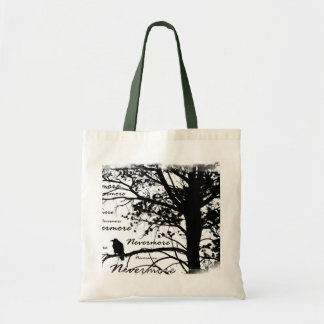 Black & White Nevermore Raven Silhouette Tree