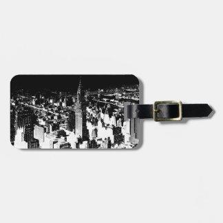Black & White New York Bag Tag